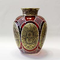 Великолепная авторская ваза из богемского стекла Чехия. I половина XX века