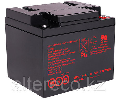 Аккумулятор WBR GPL 12400 (12В, 40Ач), фото 2