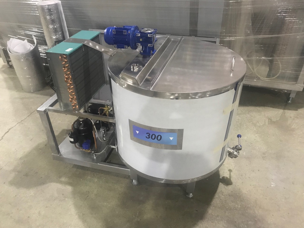 Установка для охлаждения молока (УОМ-300)