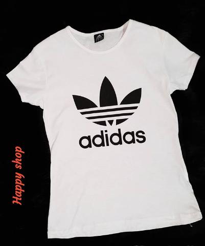 Женская белая футболка Adidas