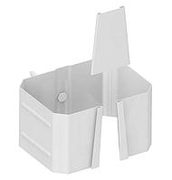 Держатель трубы 76х102 (на кирпич) Белый Металлический прямоугольного сечения  ПЭ Ral 9003