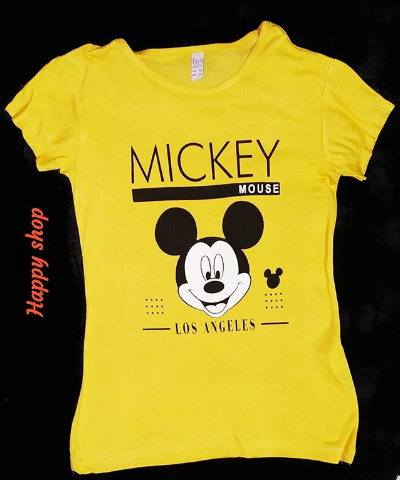 Женская желтая футболка Mickey Mouse