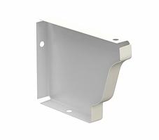 Заглушка желоба 120х86 правая Белый Металлический прямоугольного сечения  ПЭ Ral 9003
