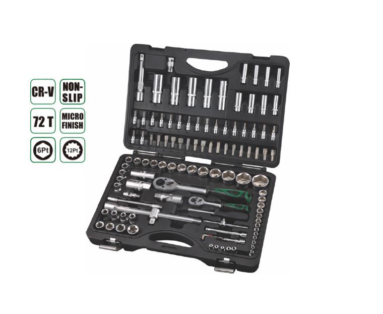 """Набор инструментов 1/2"""",1/4"""" CrV, пластиковый кейс 109 предметов  AEROFORCE"""