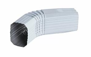 Колено трубы (60 град) 76х102 Белый Металлический прямоугольного сечения  ПЭ Ral 9003