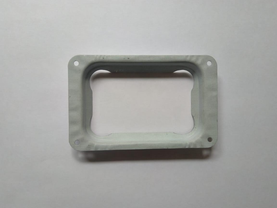 Соединитель трубы с желобом 76х102 Белый Металлический прямоугольного сечения  ПЭ Ral 9003