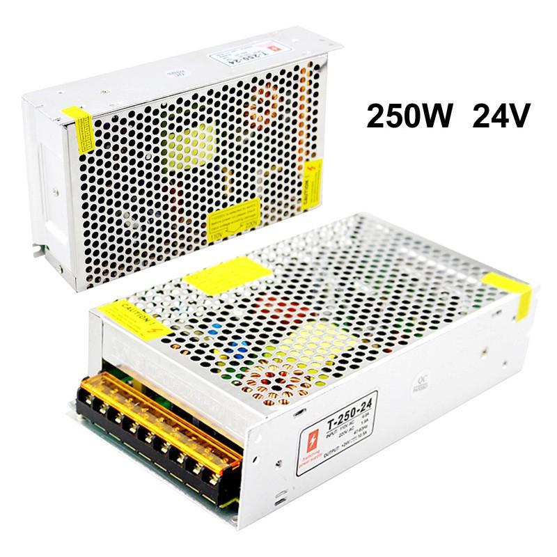 Блок питания 24V 10A 250W, открытый. Трансформатор 220В-24В, 250 Ватт. Блоки питания импульсные 24 вольт.