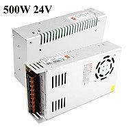 Блок питания 24V 20A 500W, открытый. Трансформатор 220В-24В, 500 Ватт. Блоки питания импульсные 24 вольт.