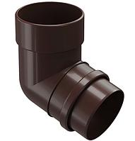Колено водосточной системы 72/100 DOCKE LUX (Дёке) Коричневый Ø141