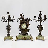 Каминные часы Афродита Франция. Конец XIX века. Скульптор L. Leroux