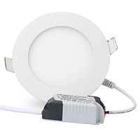 Круглый встраиваемый LED светильник 6 W