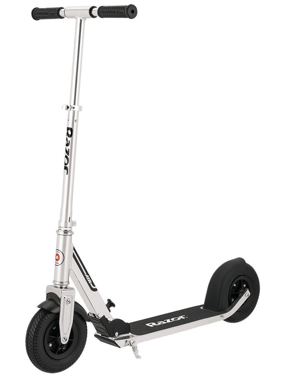 Самокат для города Razor A5 Самокат с надувными колёсами Razor A5 Air Серебристый черный