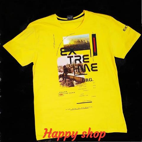 Мужская желтая футболка с надписью