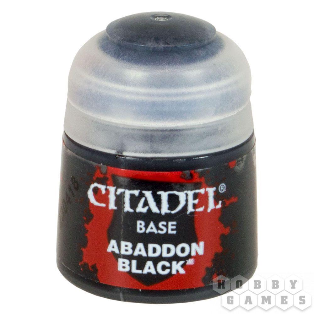 АКСЕССУАРЫ ВАРХАММЕР: Черный Аббадон (Paint Pot: Abbaddon Black)