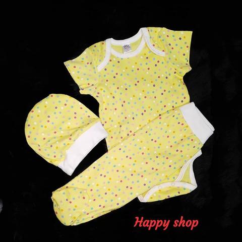 Детский костюм-тройка желтый с шапочкой