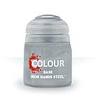 """ВАРХАММЕР АКСЕССУАРЫ: Краска """"База: сталь железных рук"""" IRON HANDS STEEL (12ML), фото 2"""