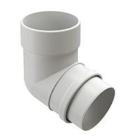 Колено водосточной системы 72/100  DOCKE LUX (Дёке) Белый