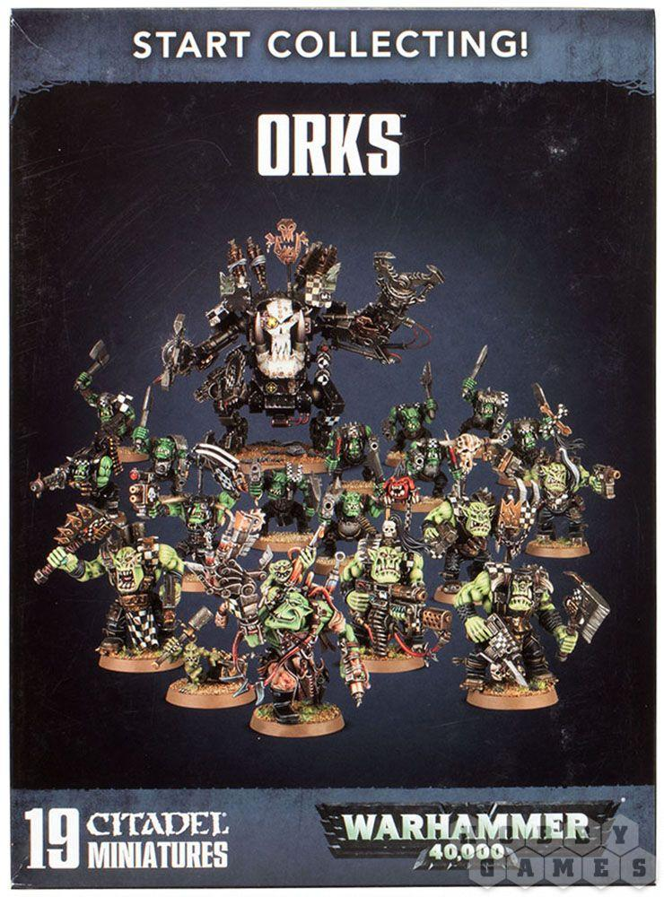 МИНИАТЮРЫ ВАРХАММЕР 40000: START COLLECTING! ORKS(2017)
