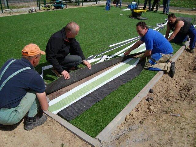 Строительство футбольного поля