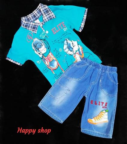 Комплект футболка и джинсовые шорты для мальчика