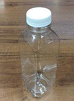 Бутылка PET прозрачная квадратная 500мл + крышка 38мм