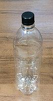 Бутылка PET прозрачная круглая 1л + крышка