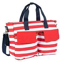 Дорожная сумка для мамы Chicco в полоску красн/бел