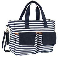 Дорожная сумка для мамы Chicco в полоску син/бел