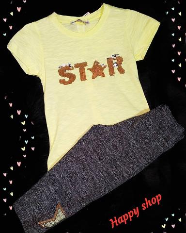 Комплект футболка и брюки для девочки