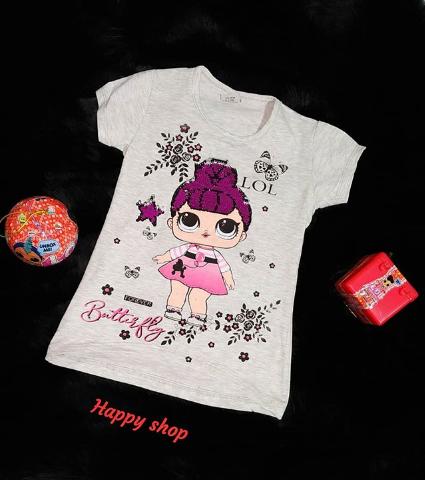 Детская футболка серая с рисунком