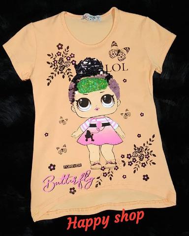 Детская футболка персиковая с рисунком