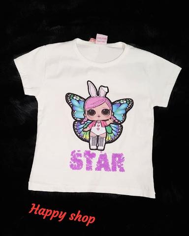 Детская футболка светло-серая с рисунком