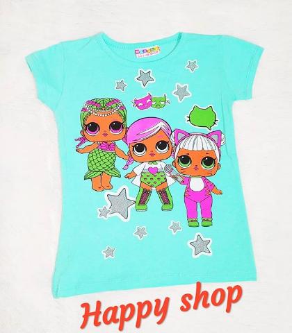 Детская футболка голубая с рисунком