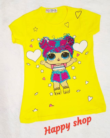 Детская футболка желтая с рисунком