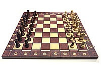 Шахматы шашки нарды деревянный магнитный 34см х 34см