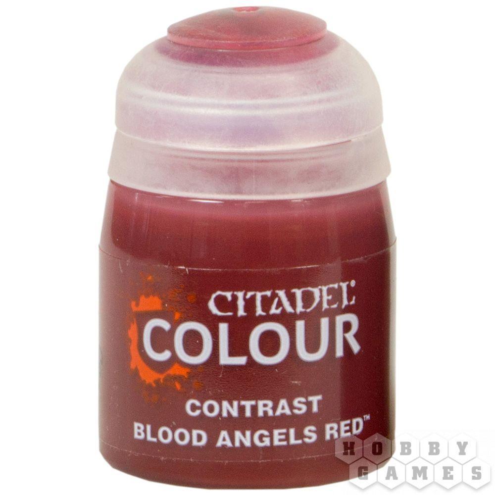 ВАРХАММЕР АКСЕССУАРЫ: Краска CONTRAST: BLOOD ANGELS RED (18ML) - фото 2