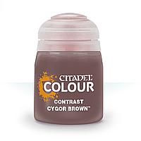 ВАРХАММЕР АКСЕССУАРЫ: Краска CONTRAST: CYGOR BROWN (18ML)