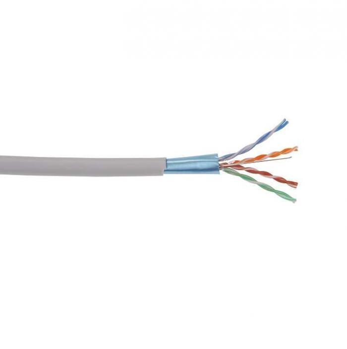 ITK Кабель связи витая пара U/UTP, кат.5E 4*2*24AWG solid, PVC, 305м, серый