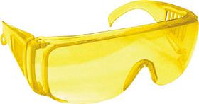 Очки защитные желтые с дужками /12220/