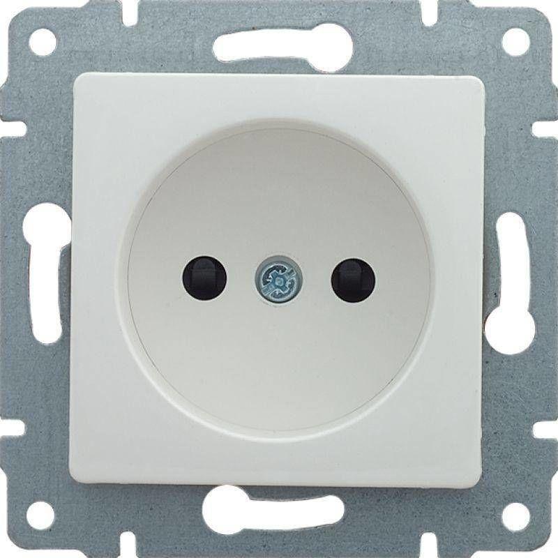 Розетка б/з без шторок белая SDN2900121