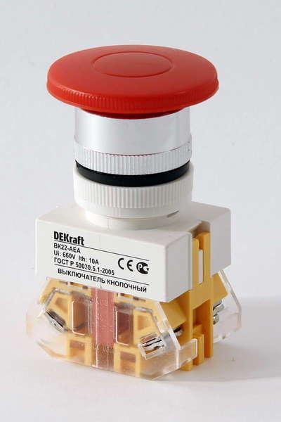 Выключатель кноп. ВК22-AEA-RED /25024DEK/