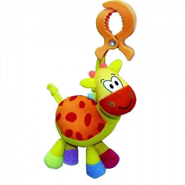 "Развивающая игрушка-подвеска на клипсе BIBA TOYS ""ЖИРАФ"" (42*28*37,5 см)"