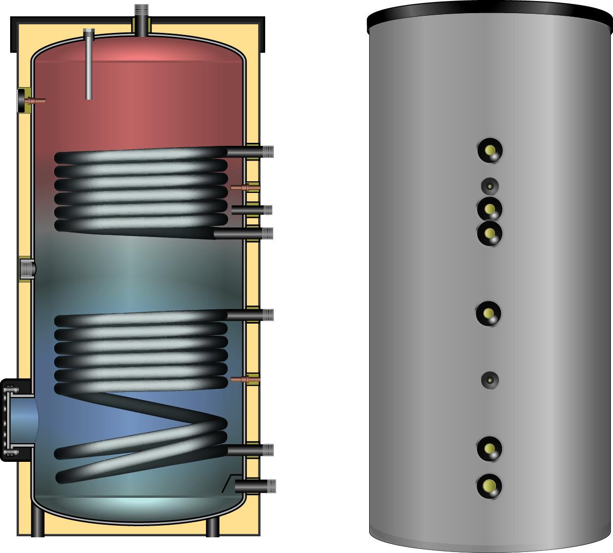 Бойлер емкостные напольные - косвенного нагрева ESS-PU 500 - фото 2
