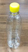 Бутылка PET прозрачная круглая 500 мл+крышка