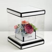 Коробка для цветов с вазой и PVC окнами складная 'Счастье рядом с тобой',, 23 х 30 х 23 см 48222