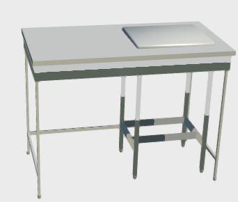 Стол весовой с гранитной плитой, антивибрационный, ц/м, 1200х600х900 мм