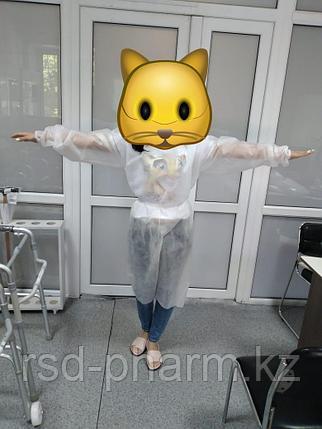 Халат хирургический нестерильный с рукавами (СМС 40), фото 2