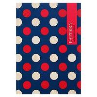 Записная книжка А5, 80 листов 'Круги на синем фоне', твёрдая обложка, глянцевая ламинация