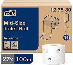 Tork туалетная бумага Mid-size в миди рулонах 127530/1, фото 3