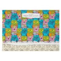 Скетчбук А5, 40 листов на скрепке 'Цветные совы', обложка мелованный картон, глянцевая ламинация, блок 80 г/м2